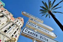 Nice cote d azur. Iconic Nice in the south of France coast Royalty Free Stock Image