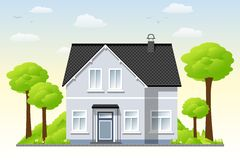 Nice country house Royalty Free Stock Photos