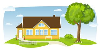 Nice country house Stock Photography