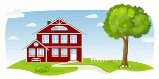 Nice country house Royalty Free Stock Photo