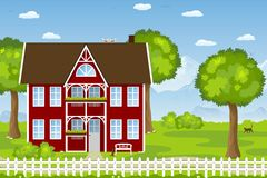 Nice country house Royalty Free Stock Image