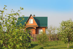A nice country house surrounded by greenery Royalty Free Stock Image