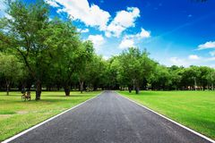 Nice country road with blue sky Stock Image