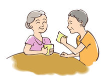 Nice Couple 2. Digital hand drawing illustration : A man and woman drink coffee Royalty Free Illustration