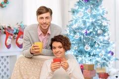 Nice couple drinking tea Stock Photos