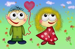 Nice couple in love. Valentine`s Day romantic people in love. royalty free stock images