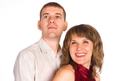 Nice couple posing Royalty Free Stock Image