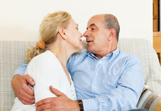 Nice couple of senior - symbol of love and complicity. Portrait of a nice couple of senior - symbol of love and complicity stock photo