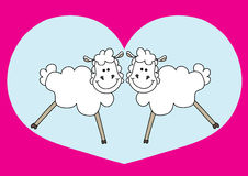 Nice couple of sheep Royalty Free Stock Photos