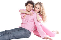 Nice couple in studio Royalty Free Stock Image