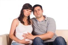 Nice couple on white Stock Image