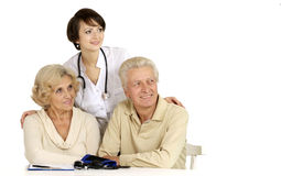 Nice couplea and doctor Royalty Free Stock Image