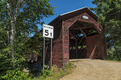 Nice covered bridge Stock Images