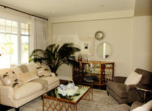 Nice cozy living room in a new house. Royalty Free Stock Photography