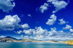 Nice crimean landscape in summer. Royalty Free Stock Photo