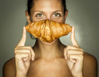 Nice croissant Stock Photography