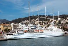 Nice - Cruise ship in Port de Nice Stock Photos