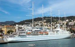 Nice - Cruise ship in Port de Nice Royalty Free Stock Photos
