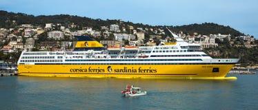 Nice - Cruise ship in Port de Nice Stock Image