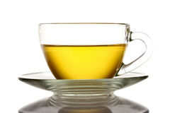 Nice cup of tea on white Royalty Free Stock Photography