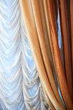 Nice Curtain On Window Royalty Free Stock Photos
