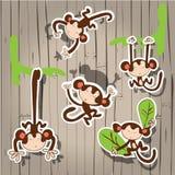 Nice cute  monkey. Cute cartoon monkey. Vector clip art illustration Stock Photography