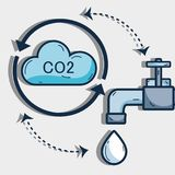 Nice cycle of water with cloud and faucet. Vector illustration Stock Photography