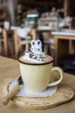 Nice 3D latte art Stock Images