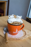 Nice 3D latte art Stock Image