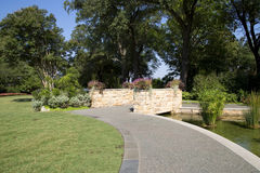 Nice Dallas Arboretum landscapes Royalty Free Stock Images