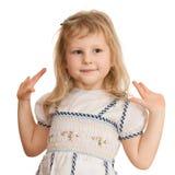 Nice dancing little girl Royalty Free Stock Photos