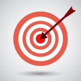 Nice darts icon with grey background Stock Photo