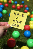 Nice day. Enjoy it all and have a nice day Royalty Free Stock Photography