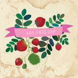 Nice day cute card - vintage style Stock Images