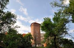Nice day in Krakow, Poland. Park near Krakow Castle, Park stock photos
