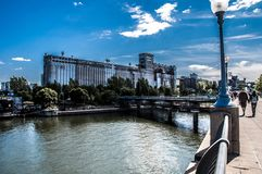 Nice day in Old Montreal. Photo taken in September 2011, this day was beautiful, the sun was there. Montreal, Quebec, Canada Royalty Free Stock Photo