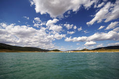 A nice day at the sea. Sea, a blue sky and clouds Royalty Free Stock Photos