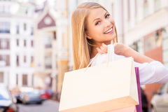 Nice day for shopping. Stock Image
