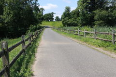 Nice Day for a Walk. A beautiful pathway for walkers, runners, bicyclists, and skaters Royalty Free Stock Photo