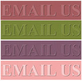 Nice design background with email us spell vector illustration