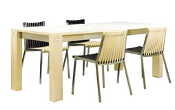 Nice design of the dining table set stock photos
