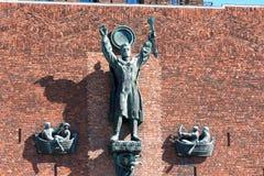 Nice detail on City Hall (Radhuset), Oslo, Norway. Royalty Free Stock Photos