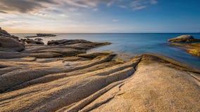 Nice detail of the Spanish coast in Costa Brava, Sant Antoni de Calonge.  royalty free stock images