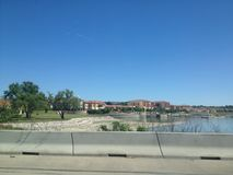 Nice development along the lake Stock Photo