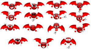 Nice devil expressions Stock Photos