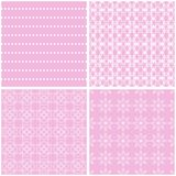 Nice different vector seamless patterns. Sweet vector set royalty free illustration