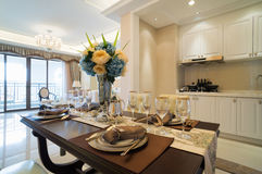 Nice dining room Stock Images
