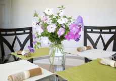 Nice dinning room background Royalty Free Stock Photo