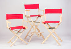 Nice Director chair. In red color three sizes Stock Image
