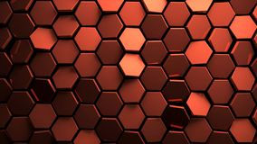 Displaced copper abstact hexagons background 3d render. Nice Displaced copper abstact hexagons background 3d render vector illustration